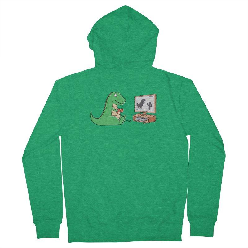 Dinosaur Gaming Men's Zip-Up Hoody by coffeeman's Artist Shop