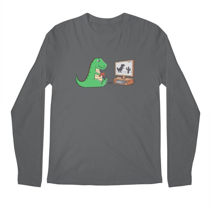 Dinosaur Gaming Men's Longsleeve T-Shirt by coffeeman's Artist Shop