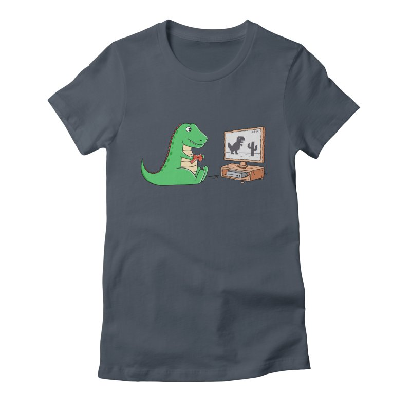 Dinosaur Gaming Women's T-Shirt by coffeeman's Artist Shop