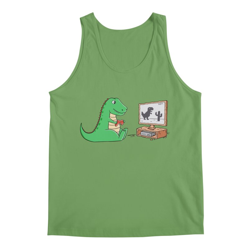 Dinosaur Gaming Men's Tank by coffeeman's Artist Shop