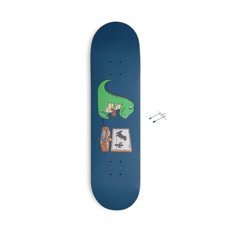 Dinosaur Gaming Accessories Skateboard by coffeeman's Artist Shop