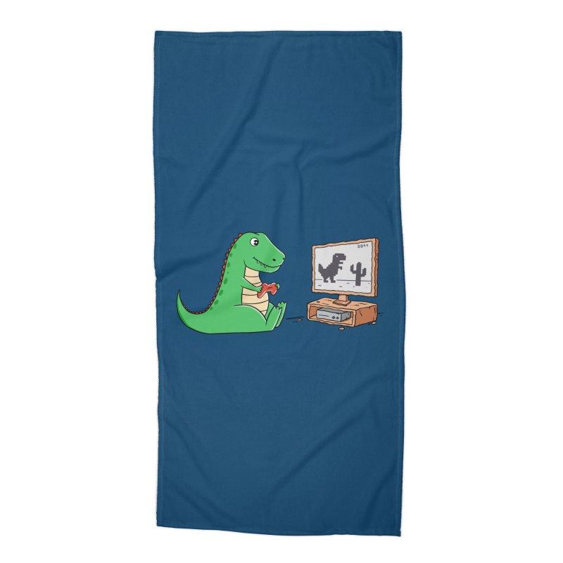 Dinosaur Gaming Accessories Beach Towel by coffeeman's Artist Shop