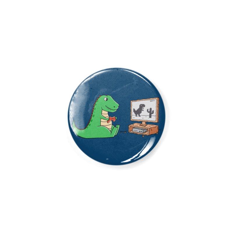 Dinosaur Gaming Accessories Button by coffeeman's Artist Shop