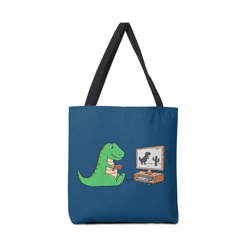Dinosaur Gaming Accessories Bag by coffeeman's Artist Shop