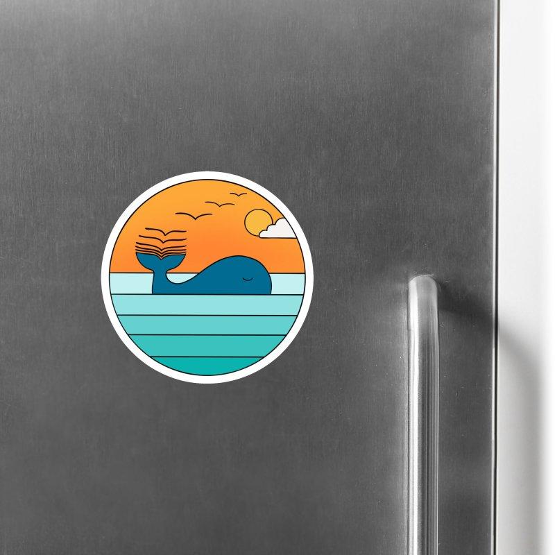 Nature whale birds Accessories Magnet by coffeeman's Artist Shop