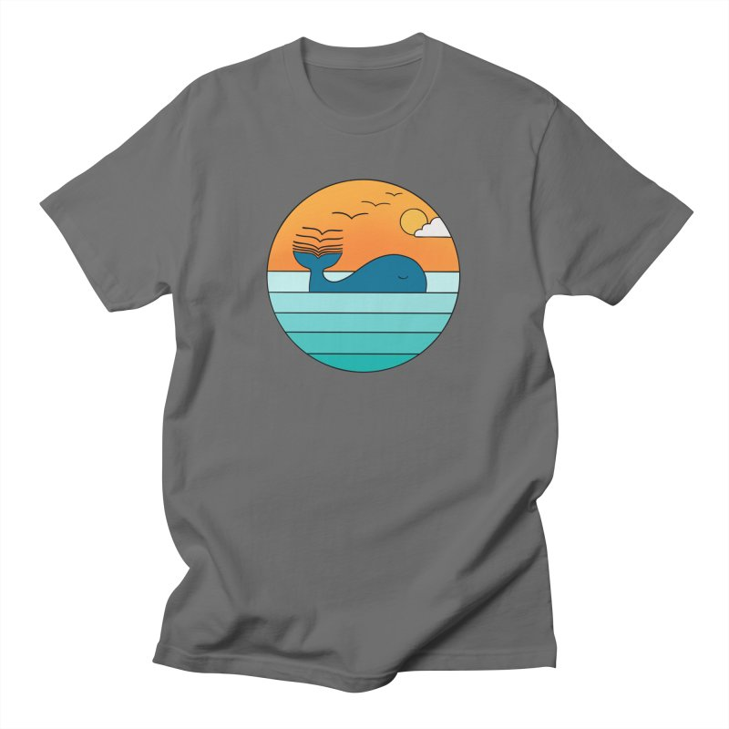 Nature whale birds Men's T-Shirt by coffeeman's Artist Shop