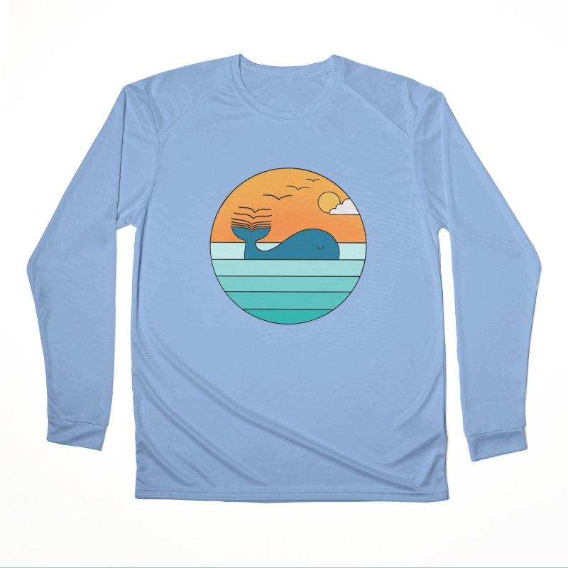 Nature whale birds Women's Longsleeve T-Shirt by coffeeman's Artist Shop