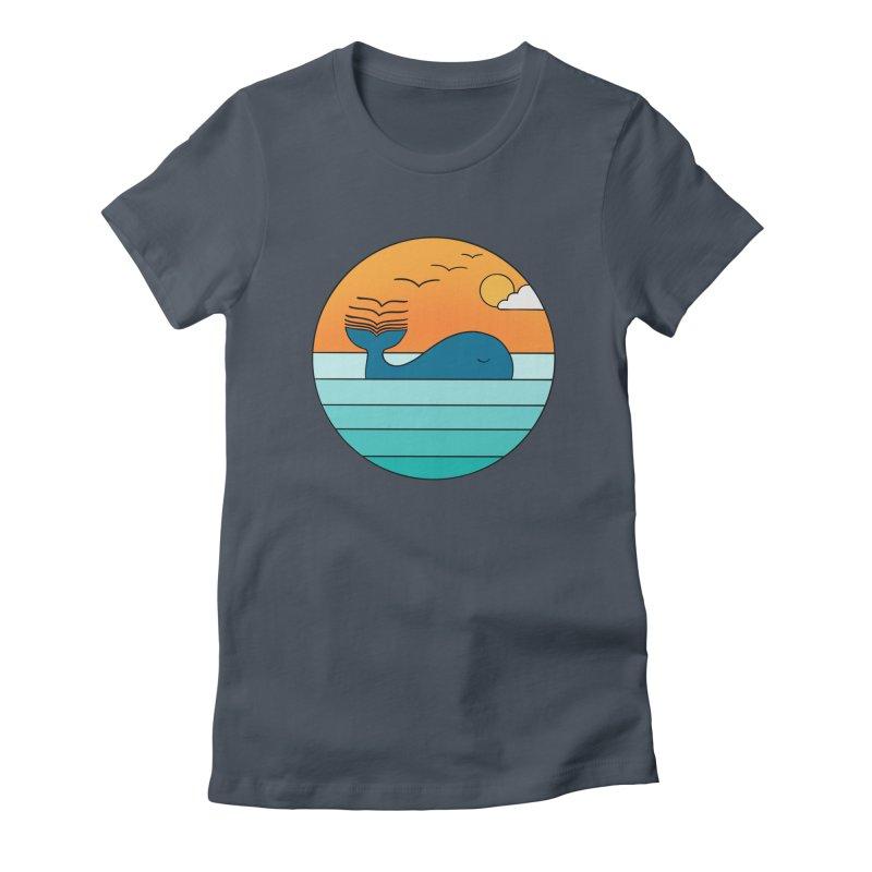 Nature whale birds Women's T-Shirt by coffeeman's Artist Shop