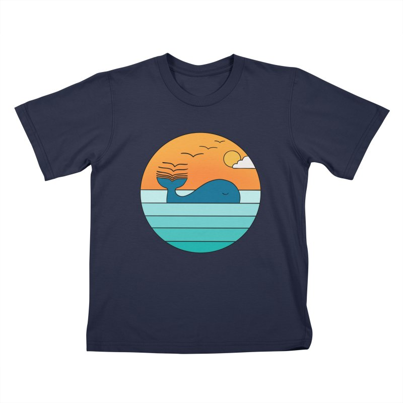 Nature whale birds Kids T-Shirt by coffeeman's Artist Shop