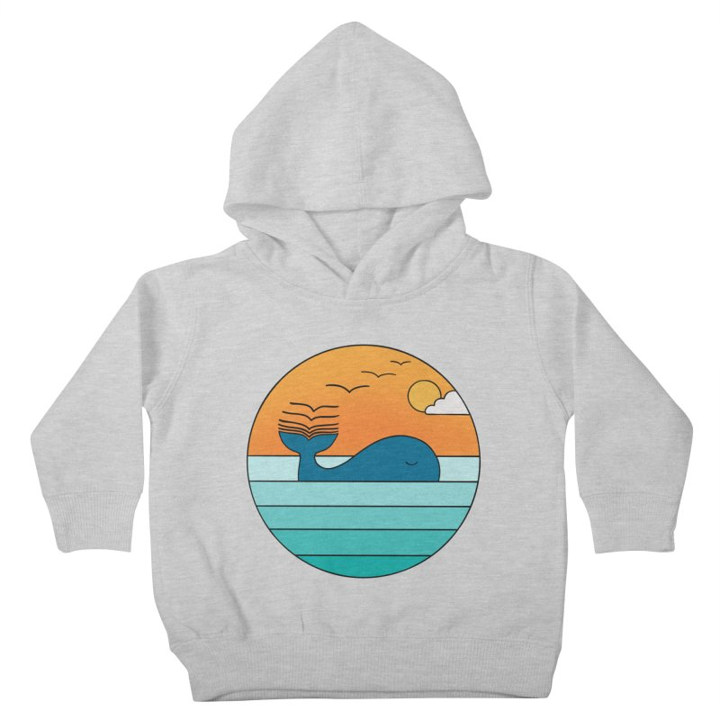 Nature whale birds Kids Toddler Pullover Hoody by coffeeman's Artist Shop