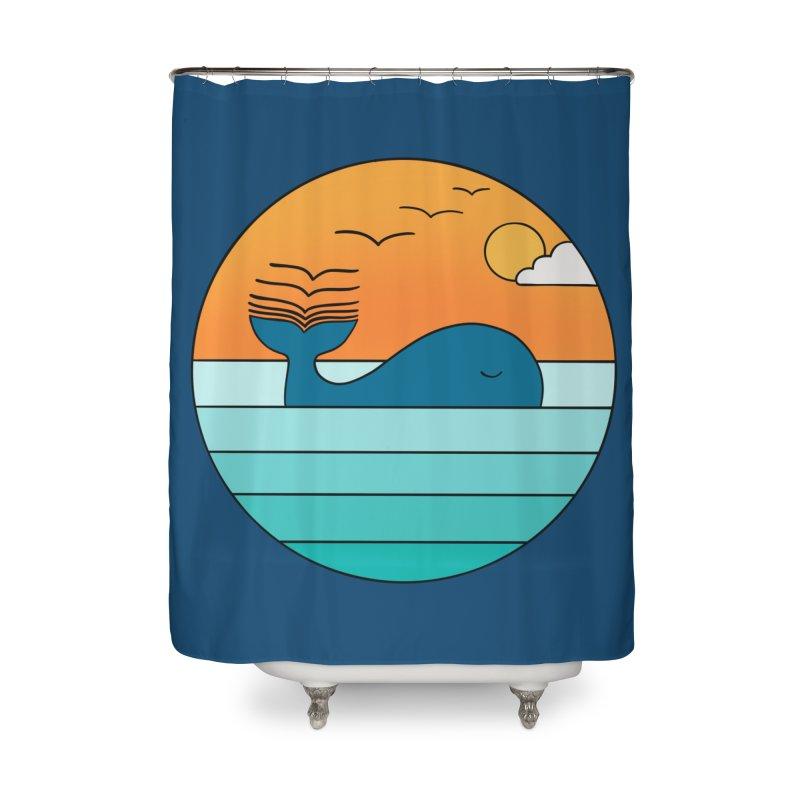 Nature whale birds Home Shower Curtain by coffeeman's Artist Shop