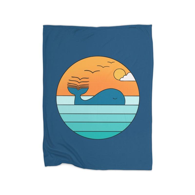 Nature whale birds Home Blanket by coffeeman's Artist Shop