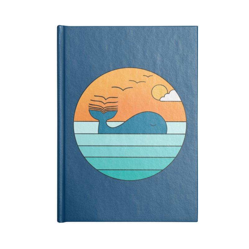 Nature whale birds Accessories Notebook by coffeeman's Artist Shop