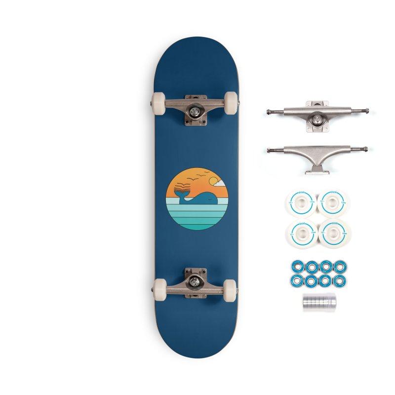Nature whale birds Accessories Skateboard by coffeeman's Artist Shop