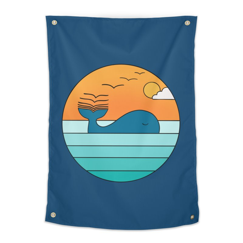 Nature whale birds Home Tapestry by coffeeman's Artist Shop