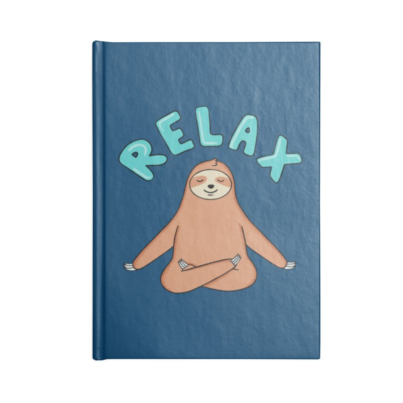 Sloth Relax Yoga Accessories Notebook by coffeeman's Artist Shop