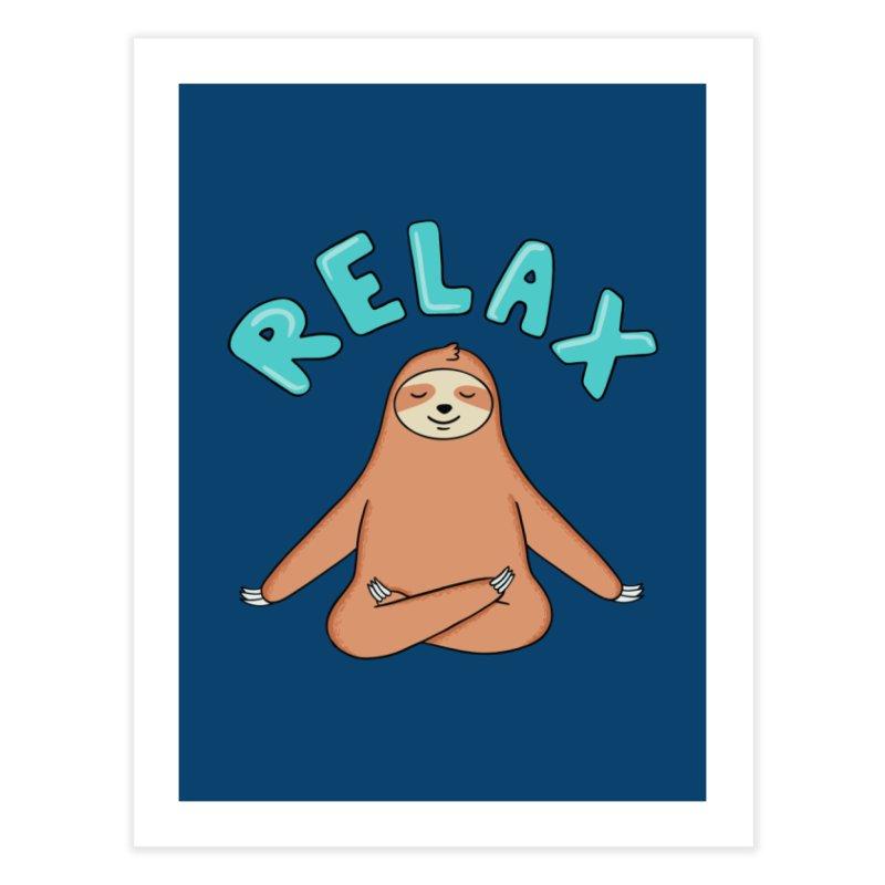 Sloth Relax Yoga Home Fine Art Print by coffeeman's Artist Shop