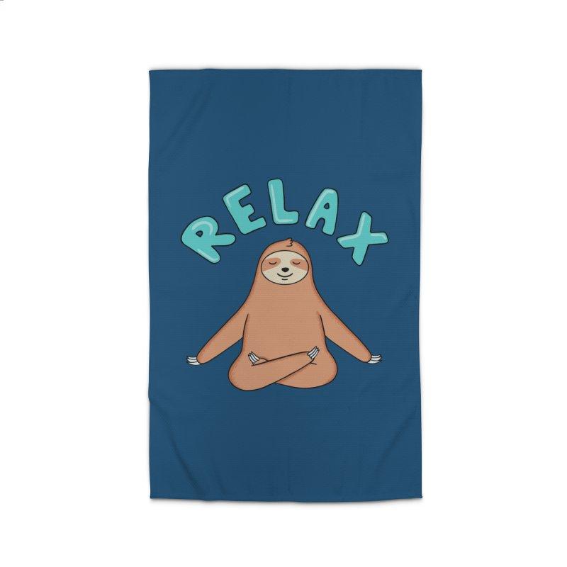 Sloth Relax Yoga Home Rug by coffeeman's Artist Shop