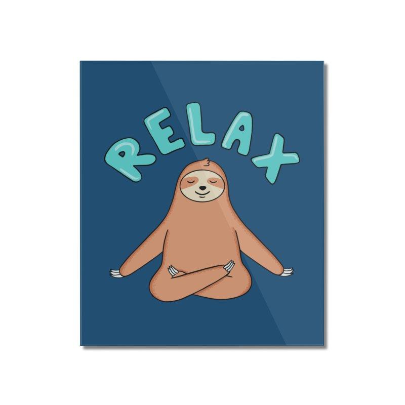 Sloth Relax Yoga Home Mounted Acrylic Print by coffeeman's Artist Shop