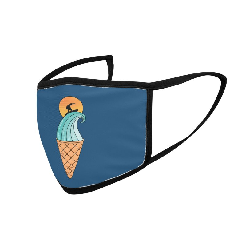 Nature Wave Ice Cream Accessories Face Mask by coffeeman's Artist Shop