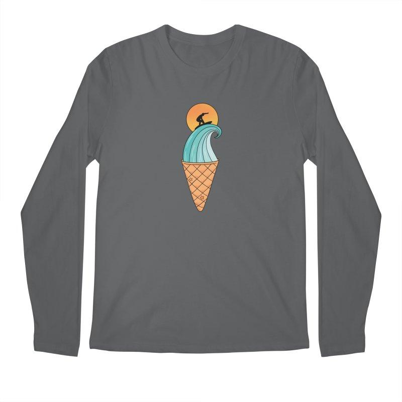 Nature Wave Ice Cream Men's Longsleeve T-Shirt by coffeeman's Artist Shop