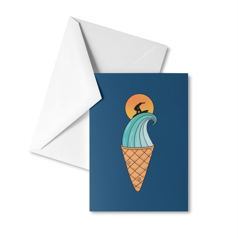Nature Wave Ice Cream Accessories Greeting Card by coffeeman's Artist Shop