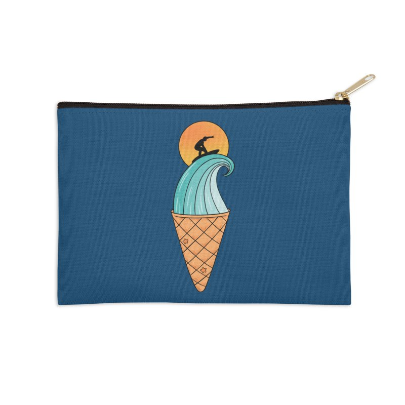 Nature Wave Ice Cream Accessories Zip Pouch by coffeeman's Artist Shop