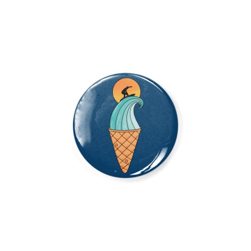 Nature Wave Ice Cream Accessories Button by coffeeman's Artist Shop