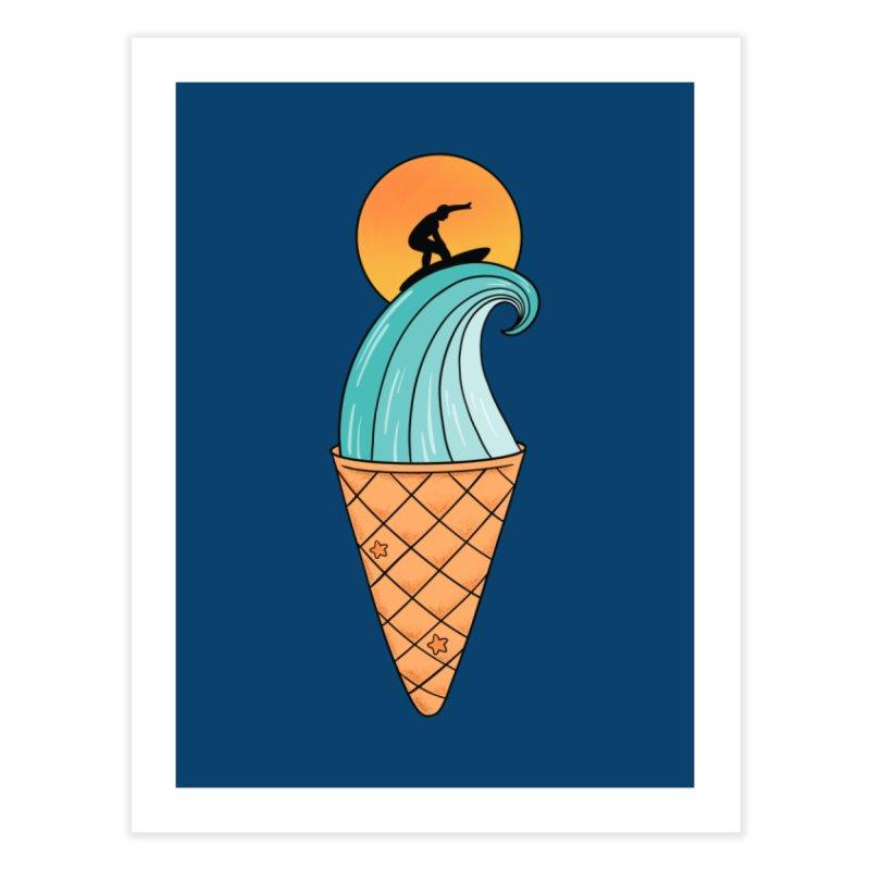 Nature Wave Ice Cream Home Fine Art Print by coffeeman's Artist Shop