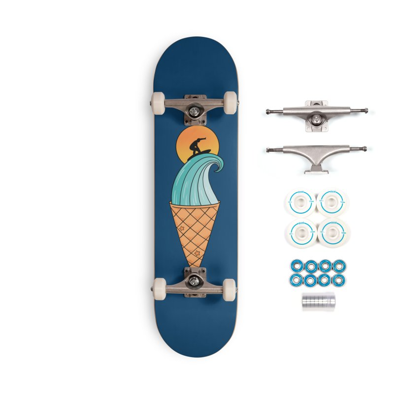 Nature Wave Ice Cream Accessories Skateboard by coffeeman's Artist Shop