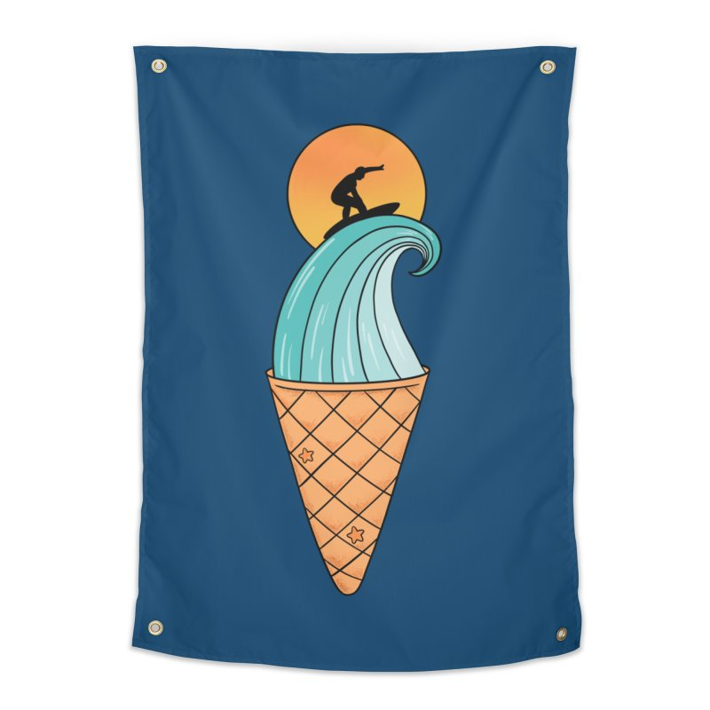 Nature Wave Ice Cream Home Tapestry by coffeeman's Artist Shop