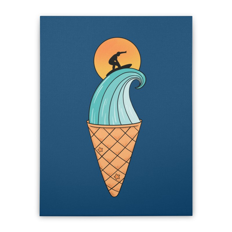 Nature Wave Ice Cream Home Stretched Canvas by coffeeman's Artist Shop