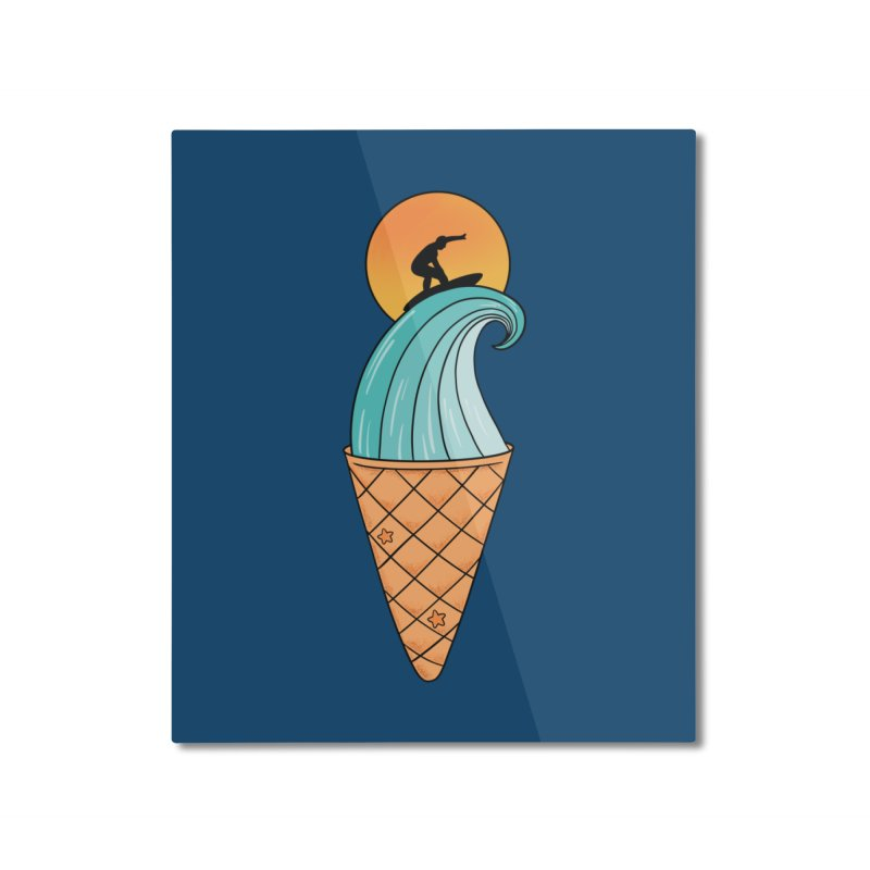Nature Wave Ice Cream Home Mounted Aluminum Print by coffeeman's Artist Shop