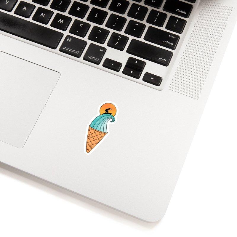 Nature Wave Ice Cream Accessories Sticker by coffeeman's Artist Shop