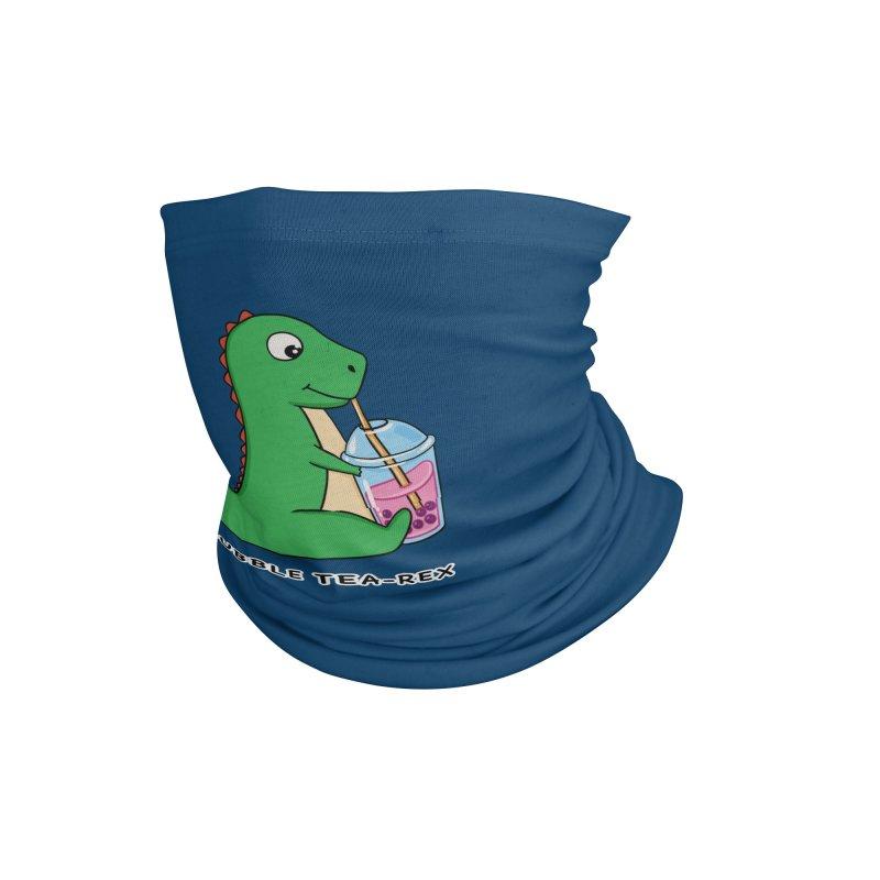 Dinosaur Tea Rex Accessories Neck Gaiter by coffeeman's Artist Shop
