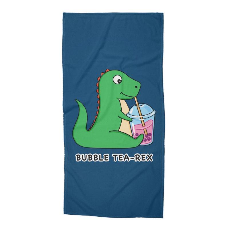 Dinosaur Tea Rex Accessories Beach Towel by coffeeman's Artist Shop