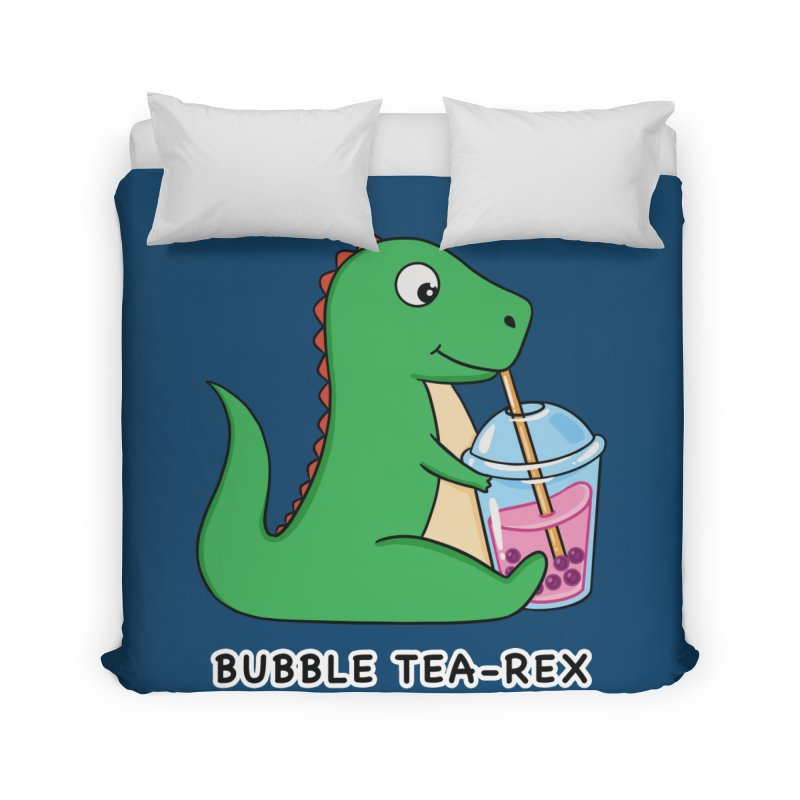 Dinosaur Tea Rex Home Duvet by coffeeman's Artist Shop