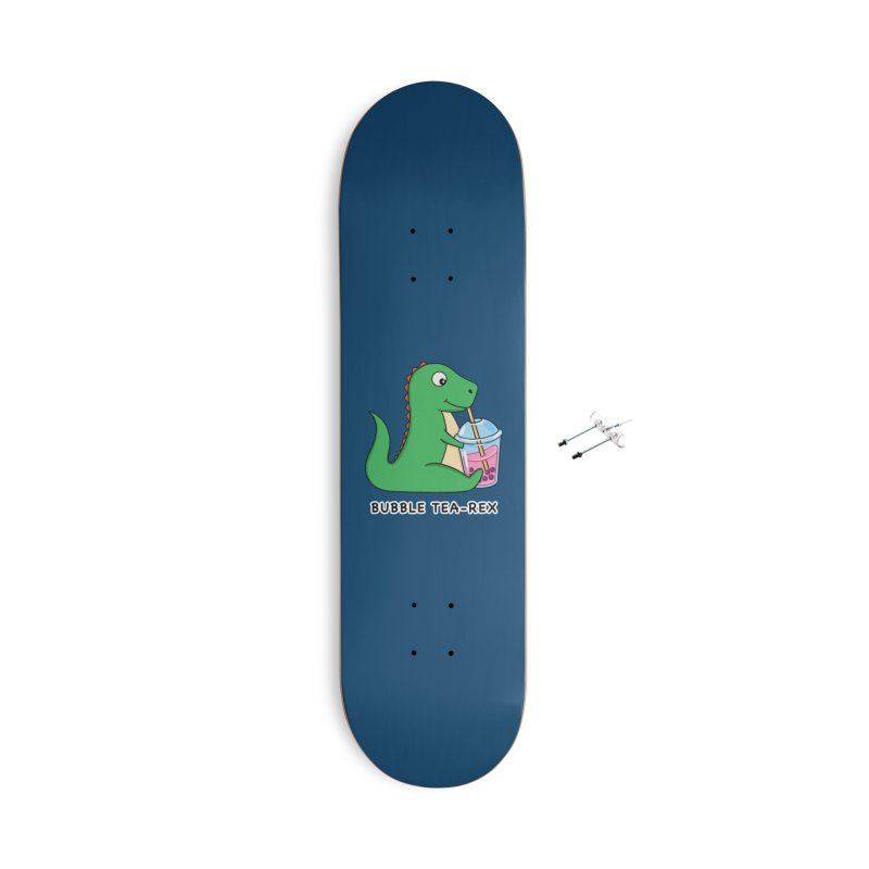 Dinosaur Tea Rex Accessories Skateboard by coffeeman's Artist Shop