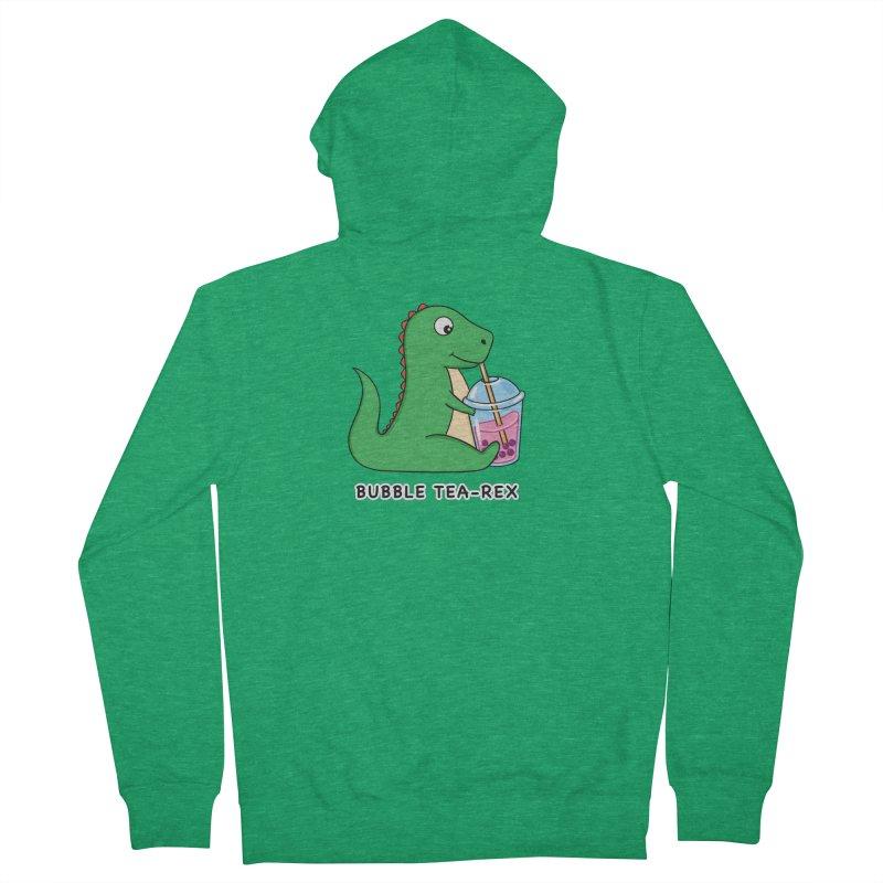 Dinosaur Tea Rex Men's Zip-Up Hoody by coffeeman's Artist Shop