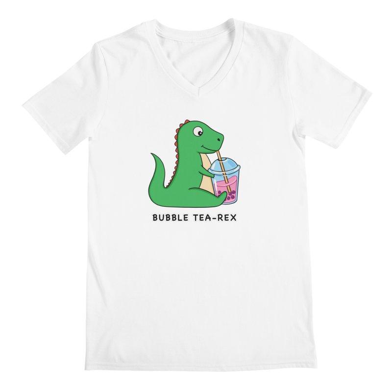 Dinosaur Tea Rex Men's V-Neck by coffeeman's Artist Shop