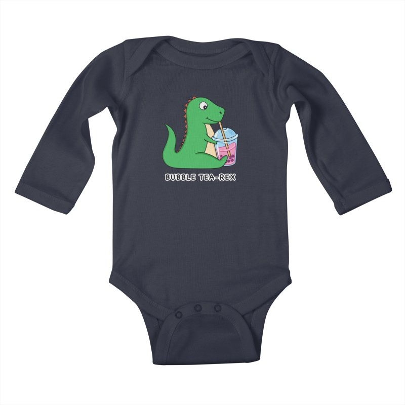 Dinosaur Tea Rex Kids Baby Longsleeve Bodysuit by coffeeman's Artist Shop