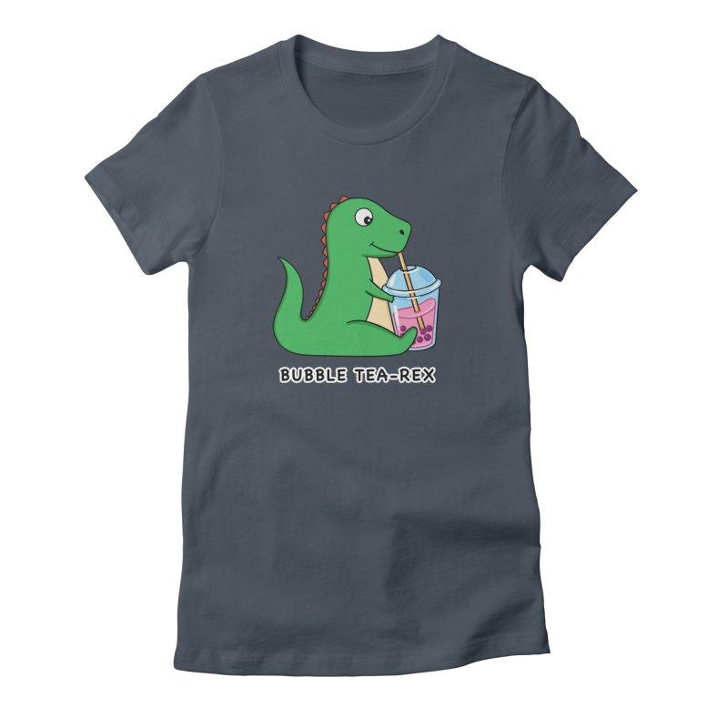 Dinosaur Tea Rex Women's T-Shirt by coffeeman's Artist Shop