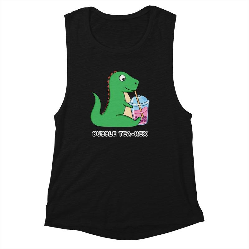Dinosaur Tea Rex Women's Tank by coffeeman's Artist Shop