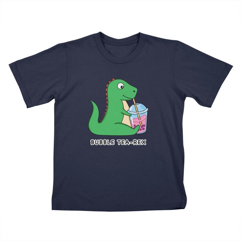 Dinosaur Tea Rex Kids T-Shirt by coffeeman's Artist Shop