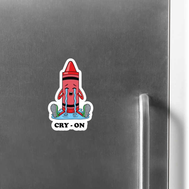 Funny Cry-on Accessories Magnet by coffeeman's Artist Shop