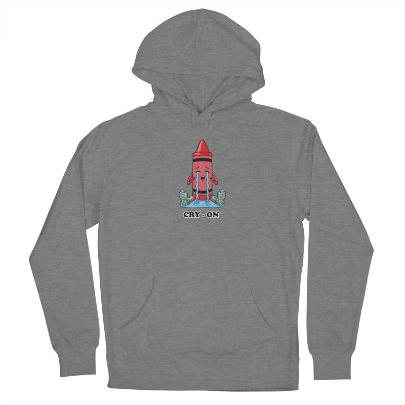 Funny Cry-on Men's Pullover Hoody by coffeeman's Artist Shop
