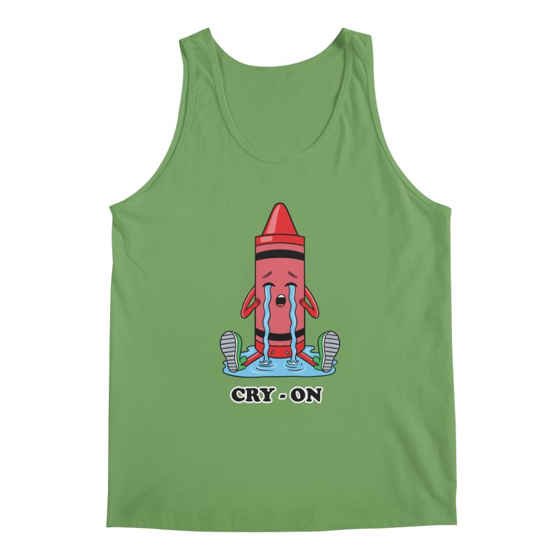 Funny Cry-on Men's Tank by coffeeman's Artist Shop