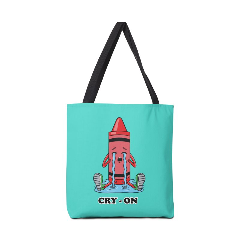 Funny Cry-on Accessories Bag by coffeeman's Artist Shop