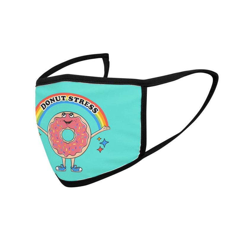Funny Donut Stress Accessories Face Mask by coffeeman's Artist Shop