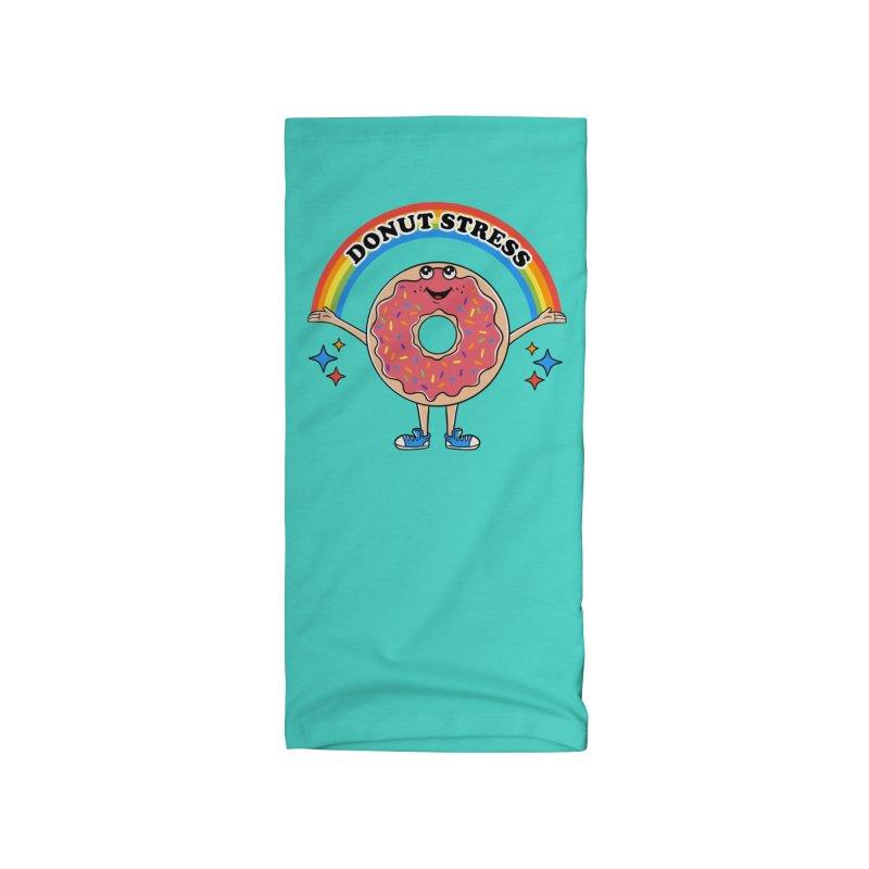 Funny Donut Stress Accessories Neck Gaiter by coffeeman's Artist Shop